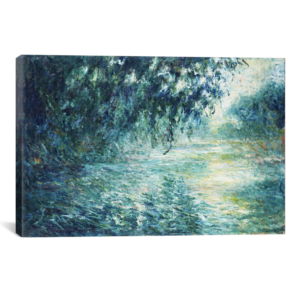 Morning on the Seine, near Giverny by Claude Monet Canvas Print - UNQFurniture