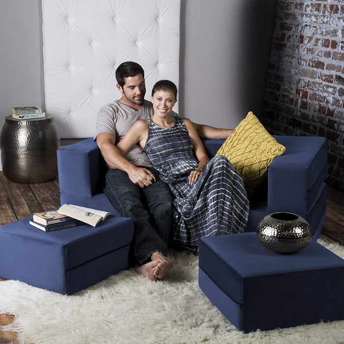Jaxx Zipline Convertible Sleeper Loveseat