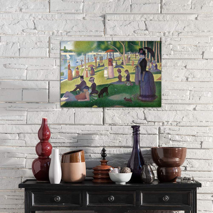 Sunday Afternoon on the Island of La Grande Jatte by Georges Seurat Canvas Print - UNQFurniture