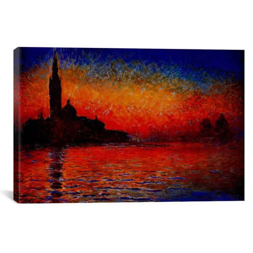 Sunset in Venice by Claude Monet Canvas Print - UNQFurniture