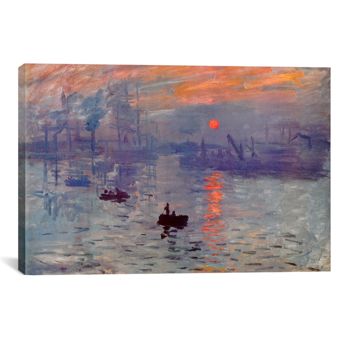 Sunrise Impression by Claude Monet Canvas Print - UNQFurniture