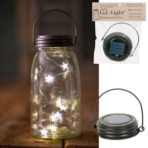 Hanging Solar Lid-Light - Star Shape Angel Tears