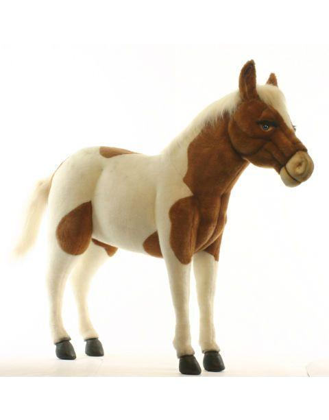 Pony Brown And White Ride-On 42'' - UNQFurniture