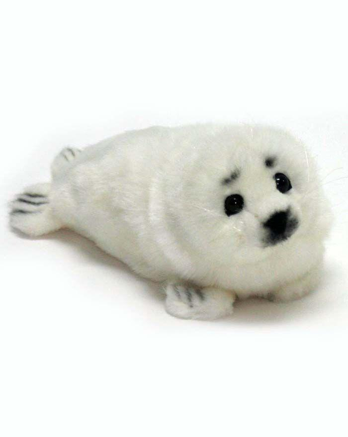 "Lying White Seal 12"" No. - UNQFurniture"
