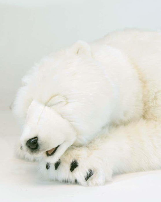Large Polar Cub Sleeping 41''L - UNQFurniture