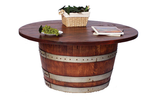 Half Barrel Cocktail Table - UNQFurniture