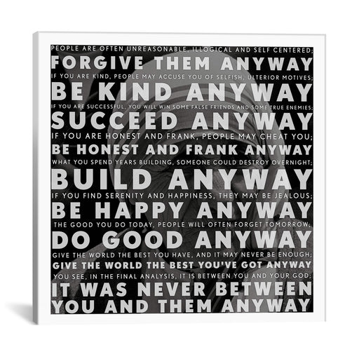 Mother Teresa Quote by iCanvas Canvas Print - UNQFurniture