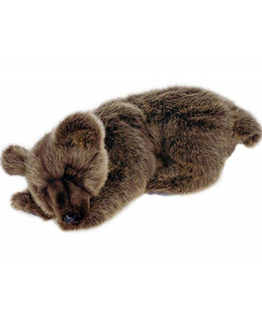 Sleeping Brown Bear 15''L - UNQFurniture