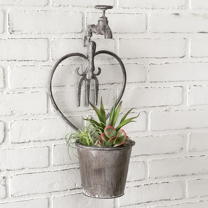 Heart Faucet Wall Planter - UNQFurniture
