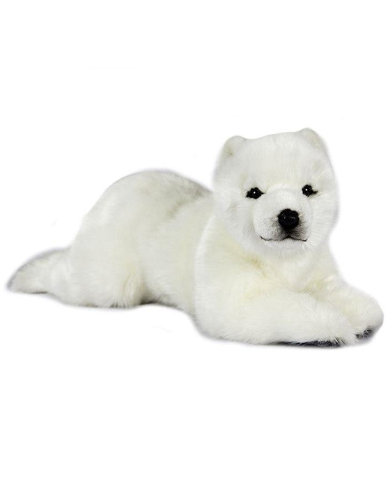"Medium Polar Bear Cub, Laying 17"" - UNQFurniture"