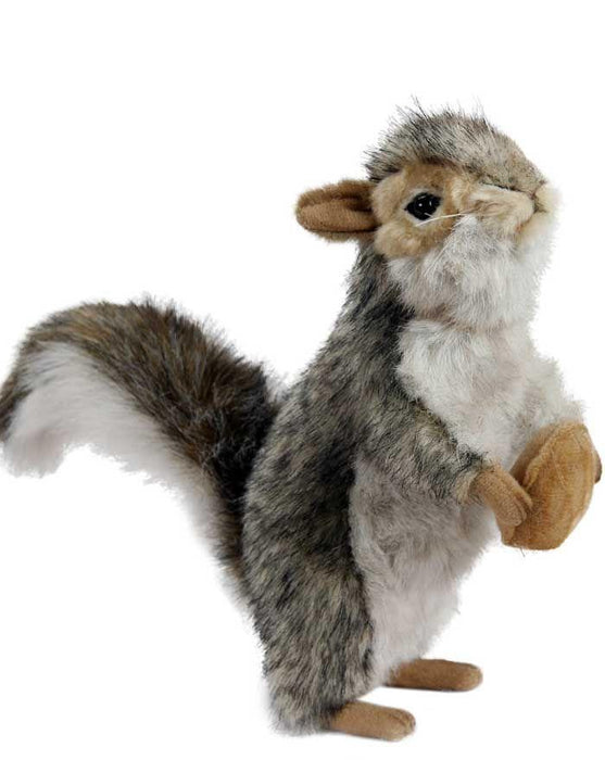 "Gray Squirrel Standing W/Nut 8"" - UNQFurniture"