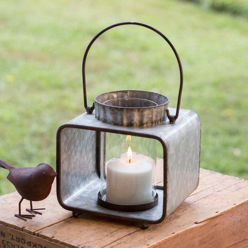 Small Jonah Candle Lantern with Glass