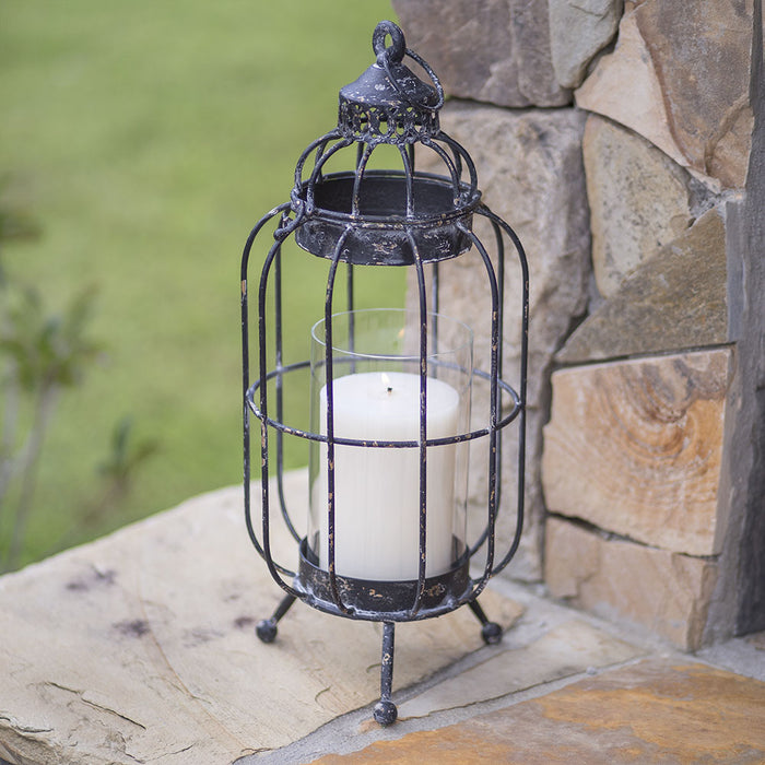 New Bern Pillar Candle Lantern - UNQFurniture