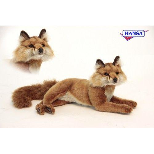 Red Fox Laying 15.5'' L - UNQFurniture