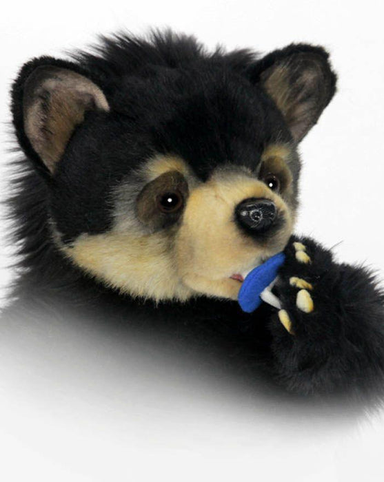 "Black Bear Cuddly Cub Seated 13.5""H. - UNQFurniture"