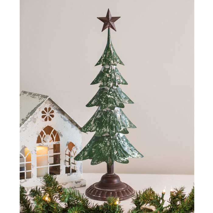 Metal Christmas Tree with Star