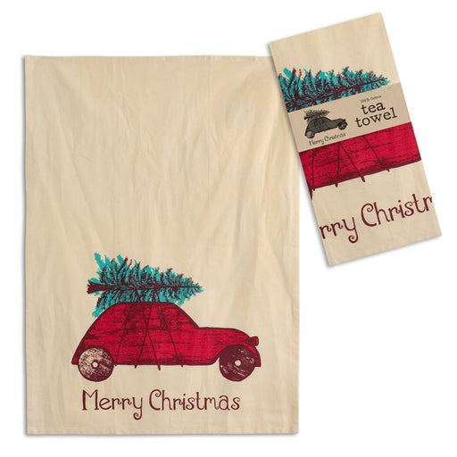 Toy Car Tea Towel - Box of 4