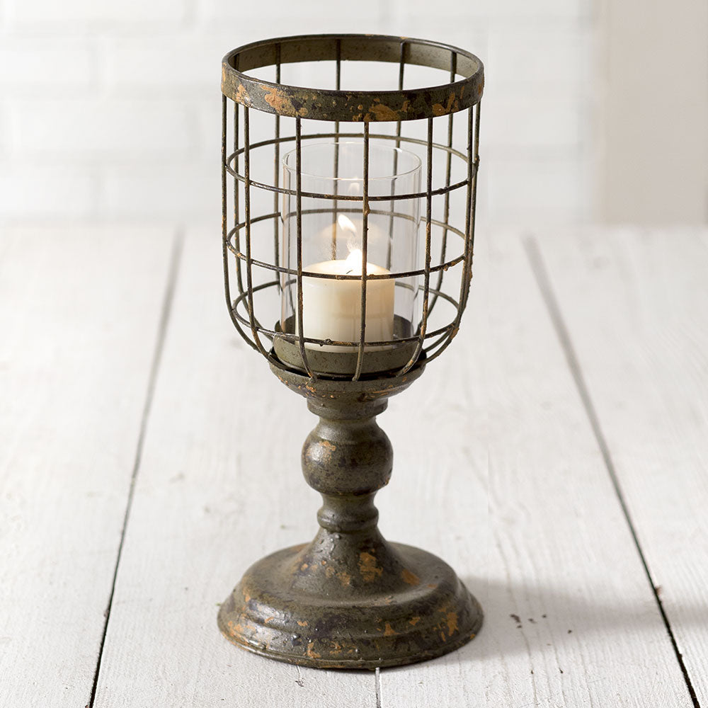 Medium Distressed Candle Stand - UNQFurniture