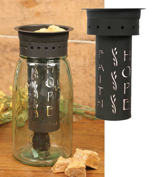 Faith Hope Love Quart Mason Jar Wax Warmer Kit