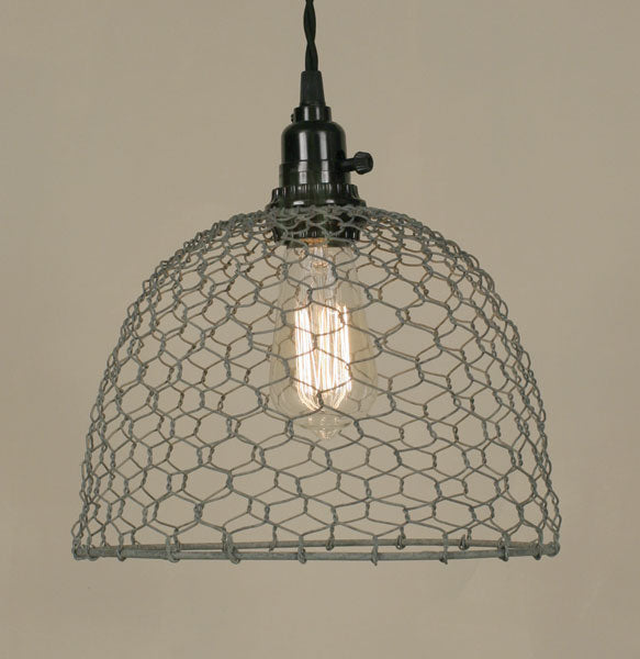 Chicken Wire Dome Pendant Light - Barn Roof - UNQFurniture