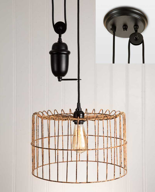 Yellow Wire Basket Pulldown Pendant Lamp - UNQFurniture