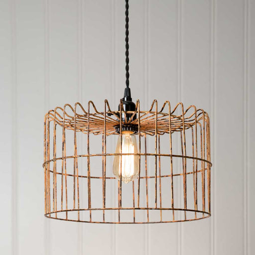 Yellow Wire Basket Pendant Lamp - UNQFurniture