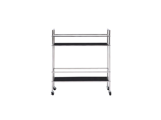 Whiteline Modern Living - Jessica Side Table/Bar Cart - UNQFurniture