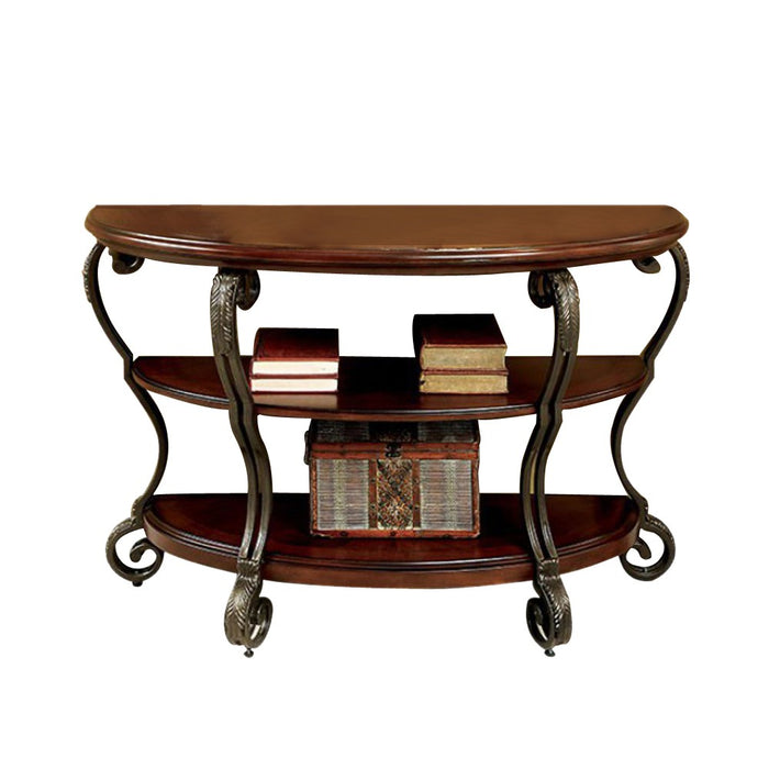 May Transitional Style Sofa Table