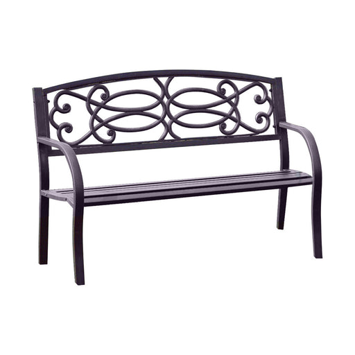 Potter Armrests Patio Bench, Black
