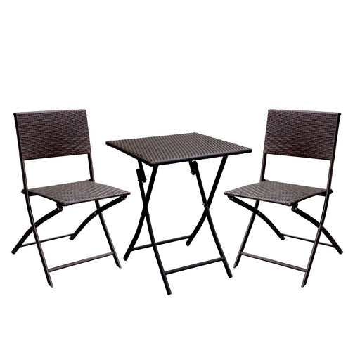 Seren Cottage Style 3-Pc Patio Set, Expresso
