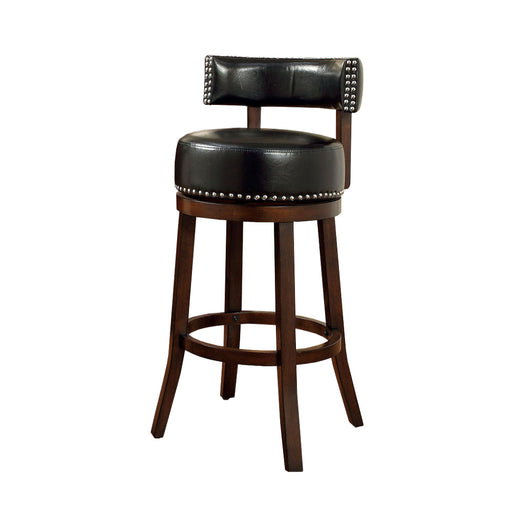 "Shirley 29"" Barstool Withpu Cushion, Black Finish, Set Of 2"