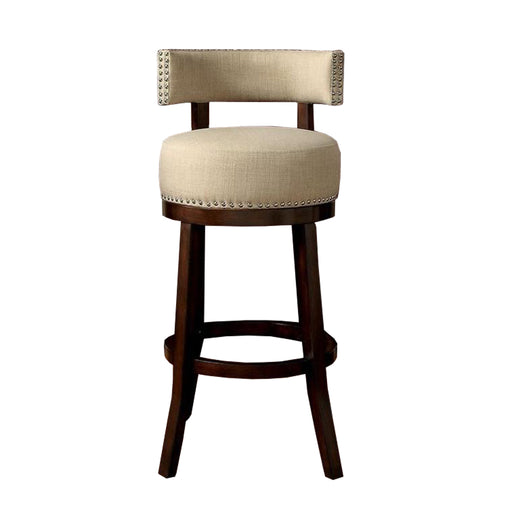 "Lynsey 29""Barstool Withlinen Cushion, Beige Finish, Set Of 2"