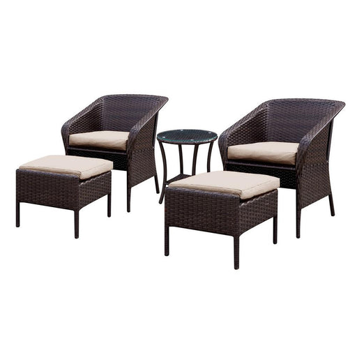 Malinda Contemporary 5 Piece Patio Seating Set
