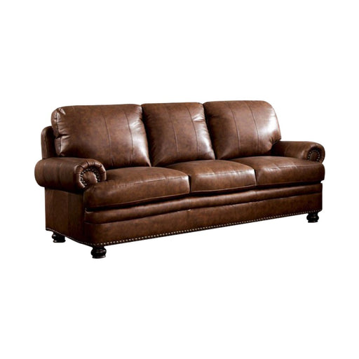 Reinhardt Transitional Style Sofa, Brown
