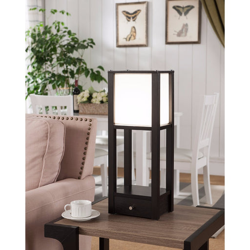 Striking Contemporary Style Floor Lamp, Brown