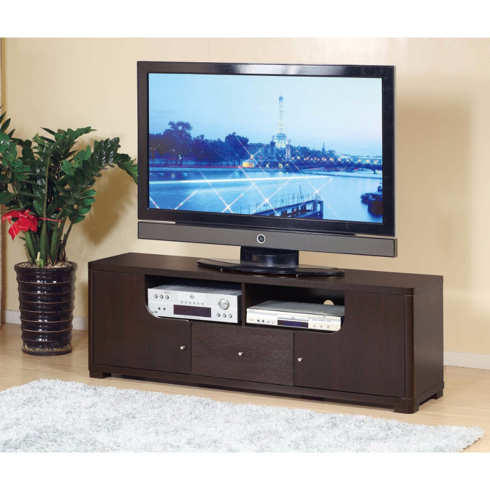 Modern Style TV Stand With 1 Drawer  And 2 Open Shelves.