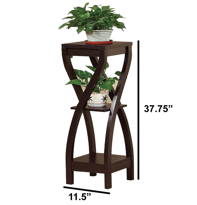 Elegant Design Large Plant Stand, Dark Brown