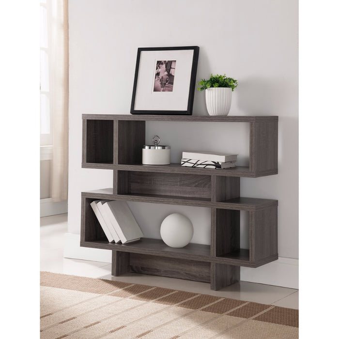 Embellishing 2-Tier Display Cabinet, Gray
