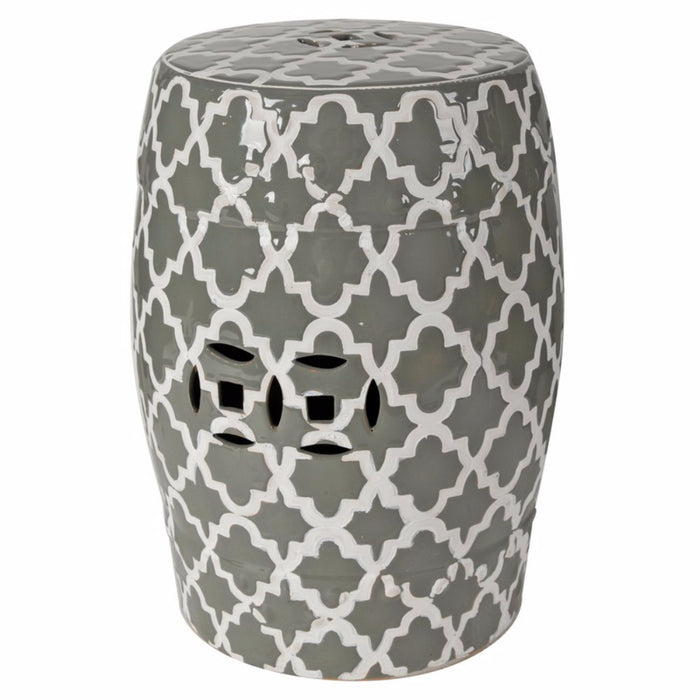 Winsome Glossy Indoor/Outdoor Patterned Stool