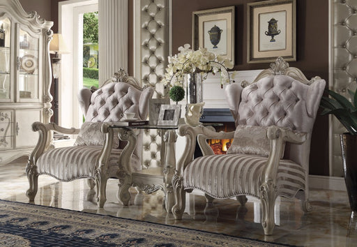Versailles Accent Chair Pillow, Ivory Velvet & Bone White