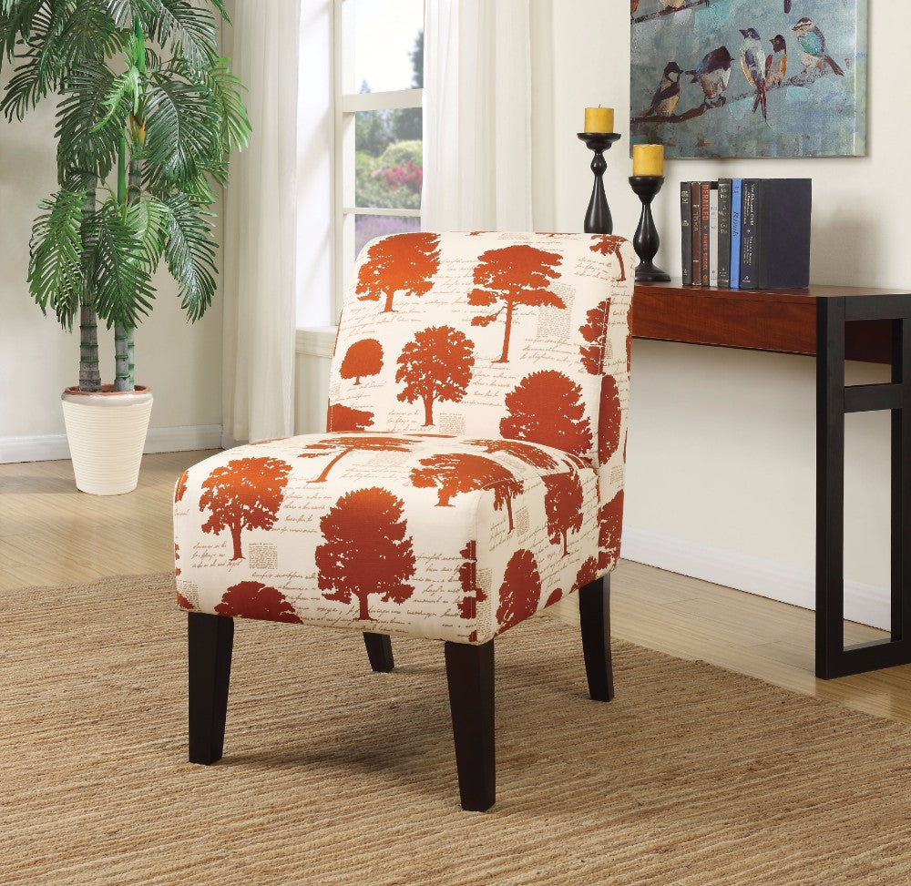 Ollano Accent Chair, Tree Fabric Multicolor