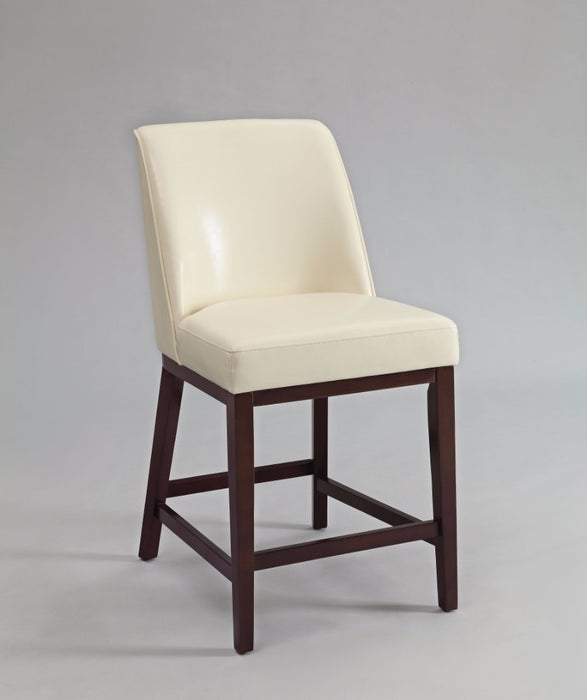 Valor Counter Height Chair, Ivory & Espresso, Set-2