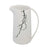 Opulently Classy decorative Ceramic Pitcher, White