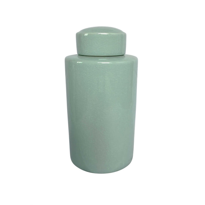 Elegant decorative Ceramic Covered Jar In Green