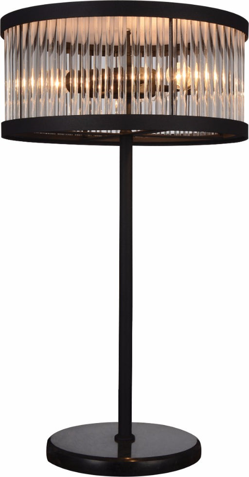 Stylishly Enchanted Metal Table Lamp With Marble Base, Black