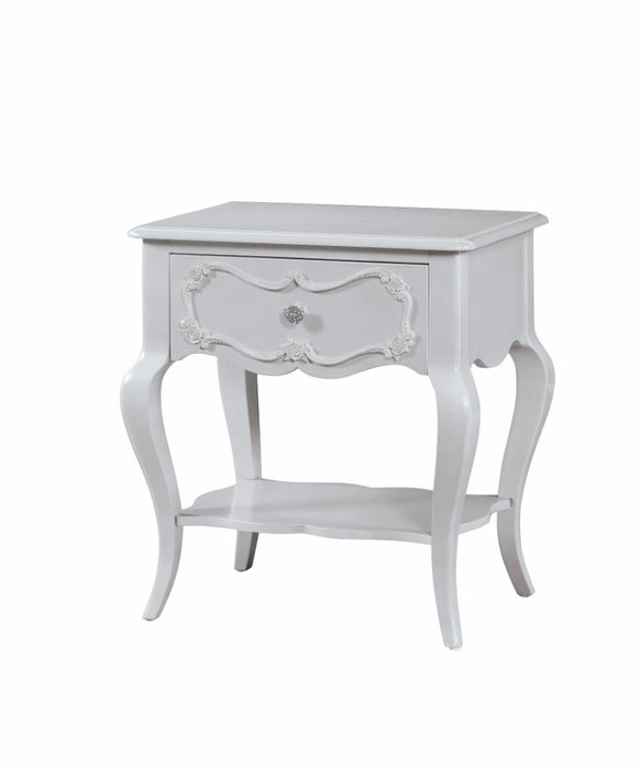 Well-designed Wood Nightstand By Edalene, Grey