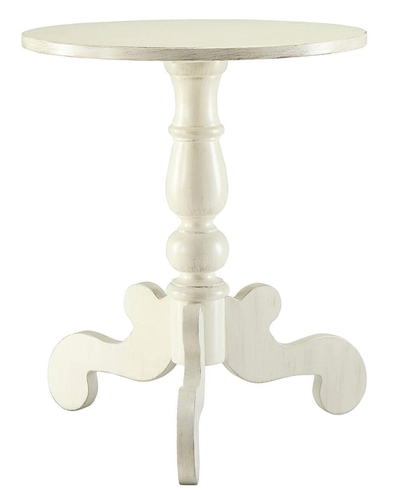 Freida End Table, Antique White