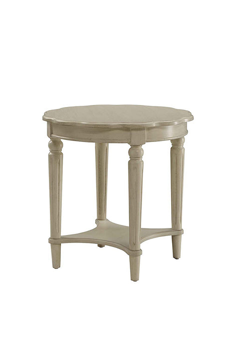 Fordon End Table, Antiqued White