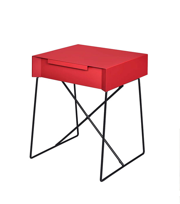 Gualacao End Table, Red