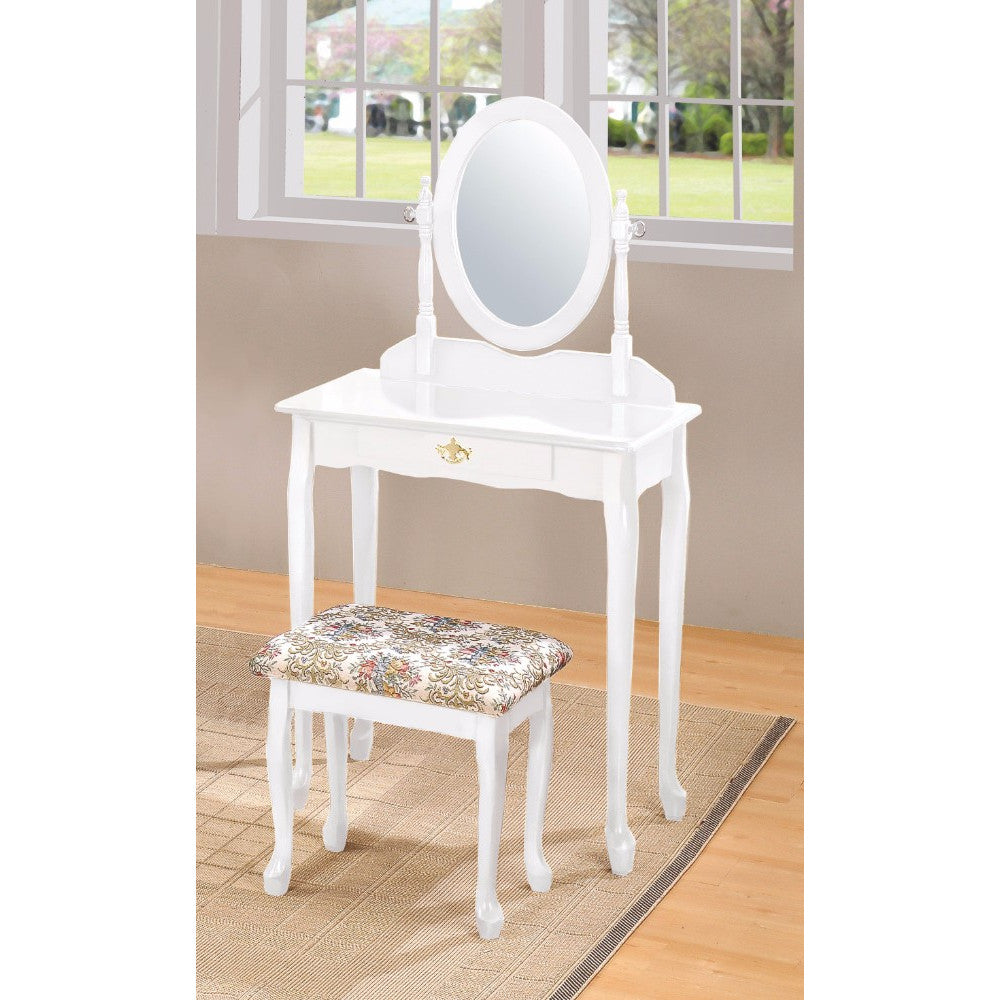 Queen Anne Vanity Set, White